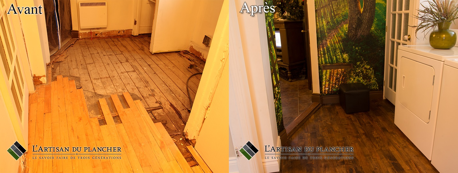 installation plancher rive-sud